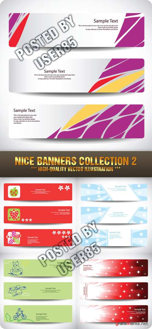 Stock Vector - Nice Banners Collection 2