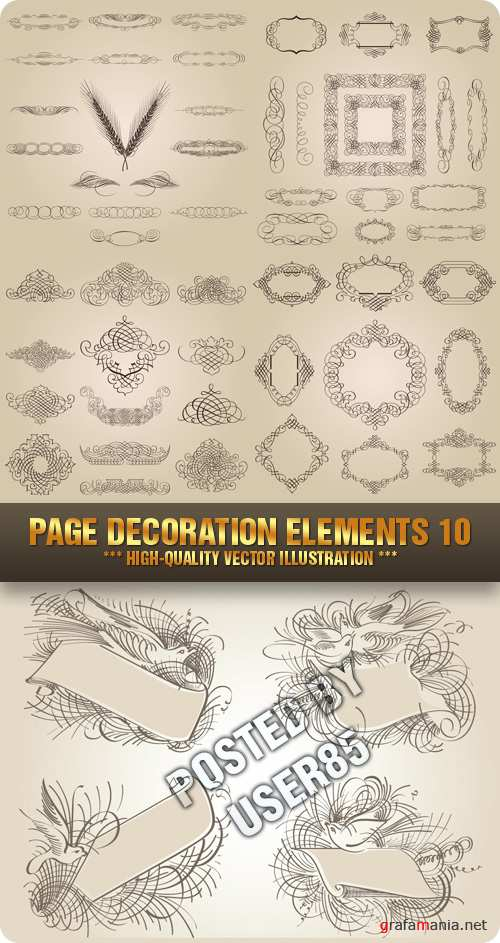 Stock Vector - Page Decoration Elements 10