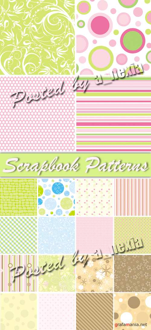 Scrapbook Color Patterns Vector