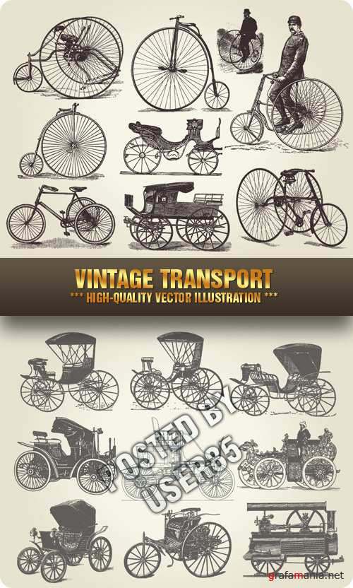 Stock Vector - Vintage Transport