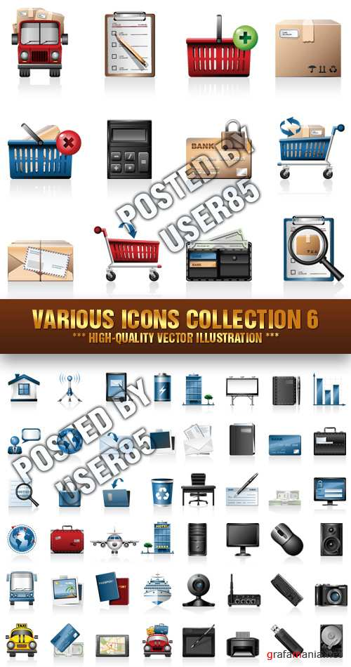 Stock Vector - Various Icons Collection 6