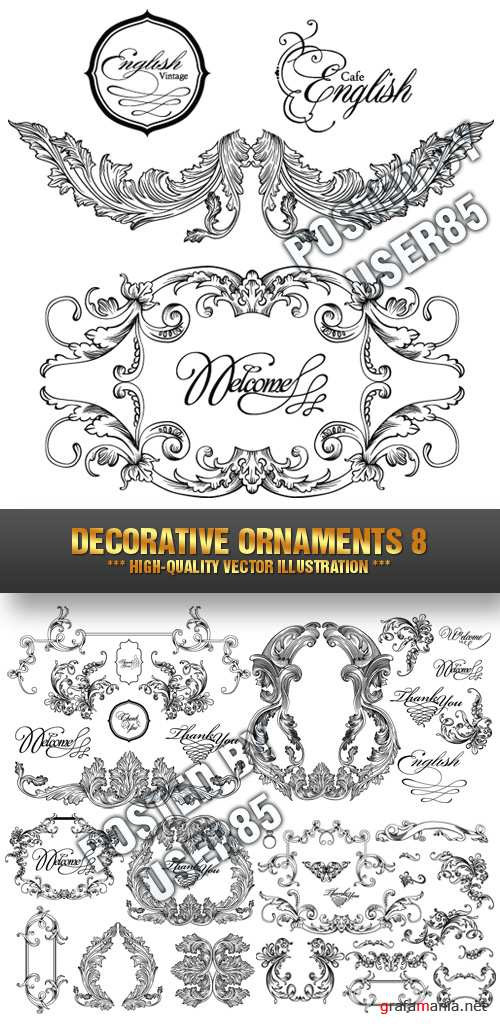 Stock Vector - Decorative Ornaments 8
