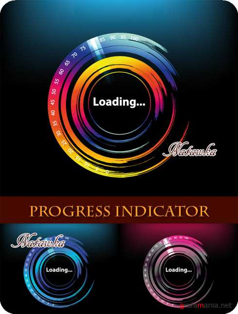 Progress Indicator - Stock Vectors