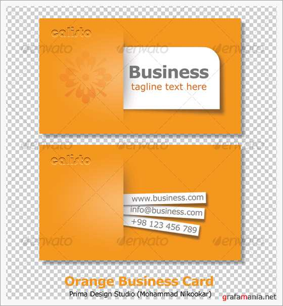 Orange Business Card - GraphicRiver