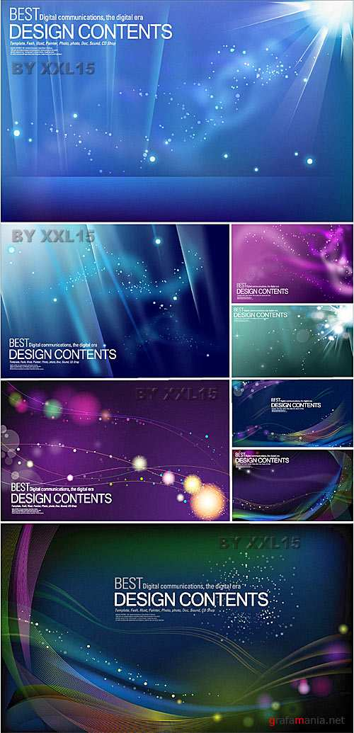 Abstract galaxy backgrounds