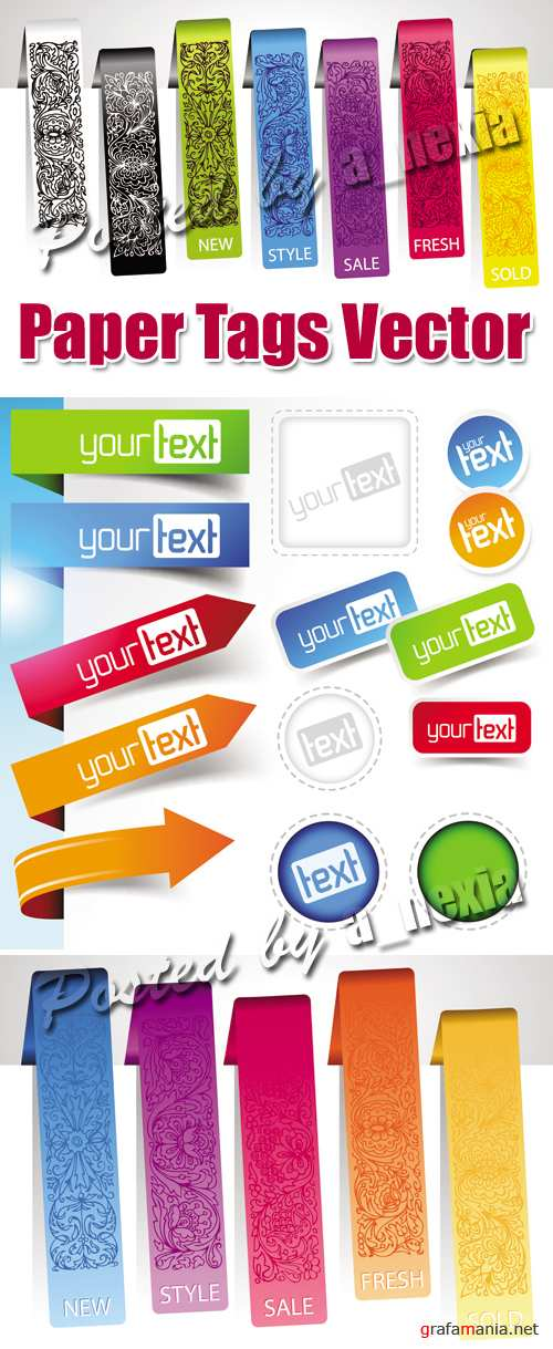 Paper Tags & Bookmarks Vector