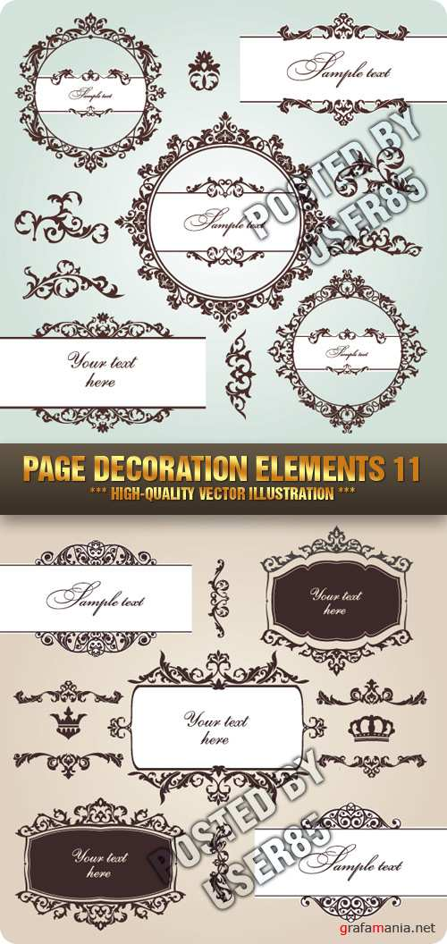 Stock Vector - Page Decoration Elements 11