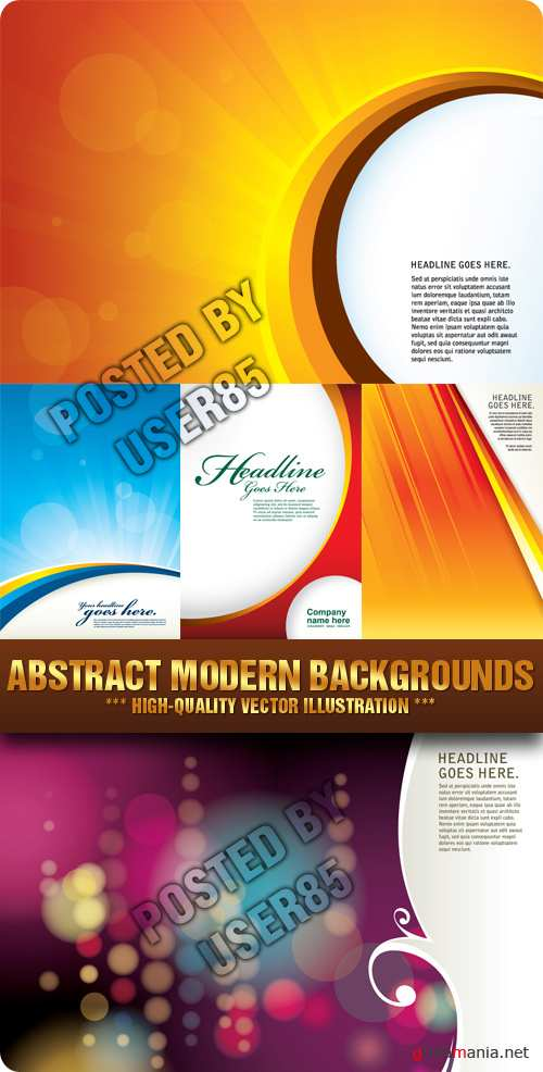 Stock Vector - Abstract Modern Backgrounds