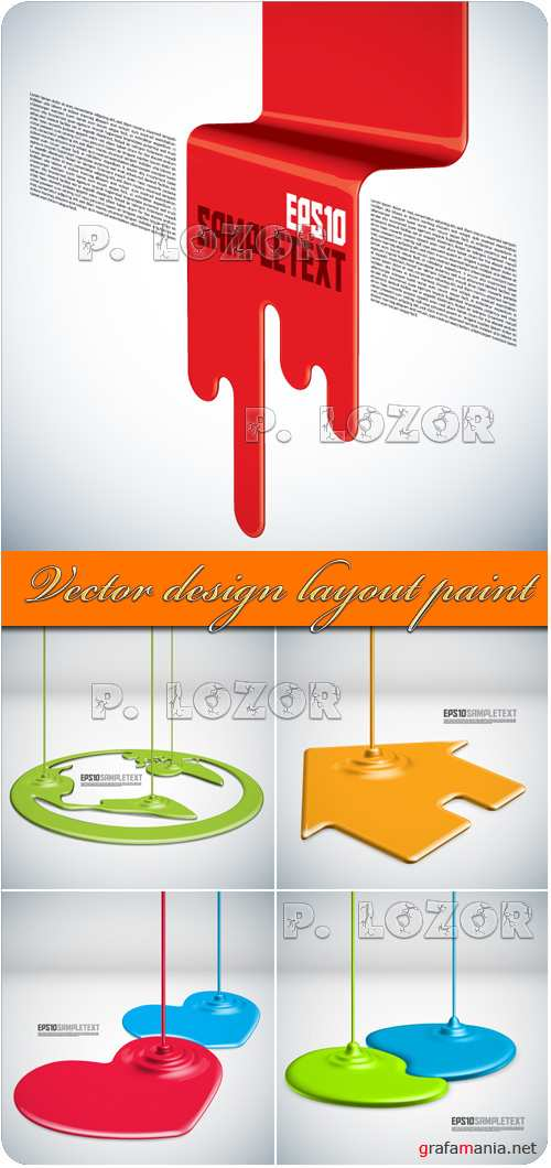 Vector design layout paint
