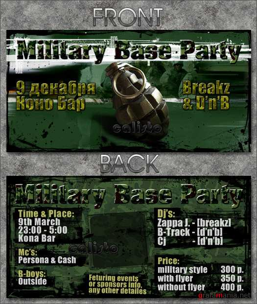 Millitary Poster & Flyer