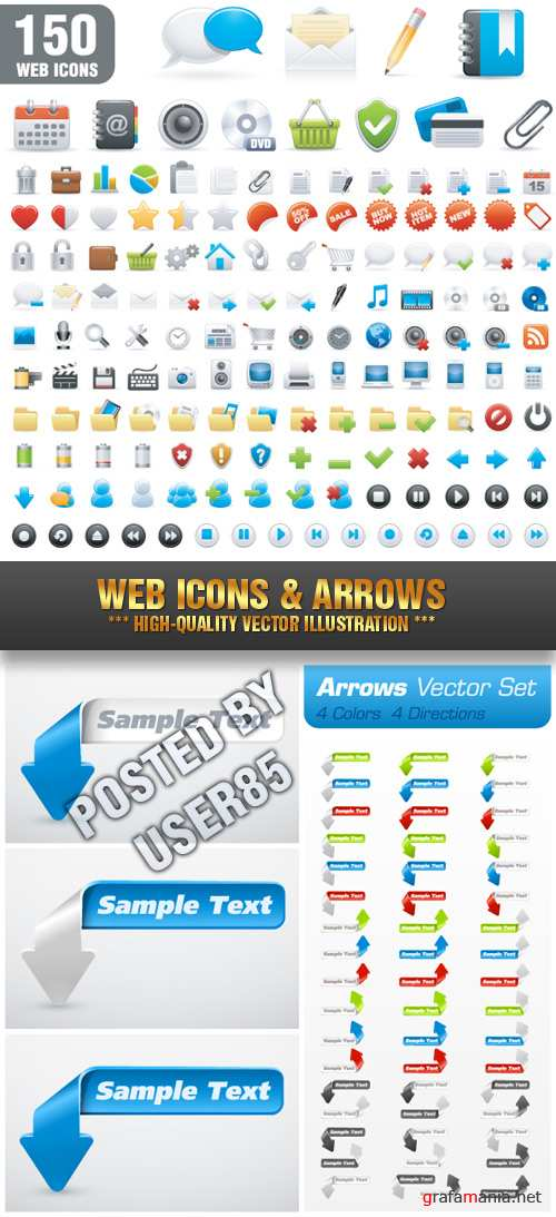 Stock Vector - Web Icons & Arrows