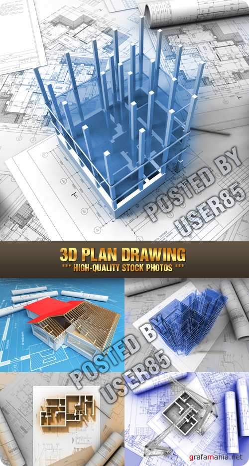 Stock Photo - 3D Plan Drawing