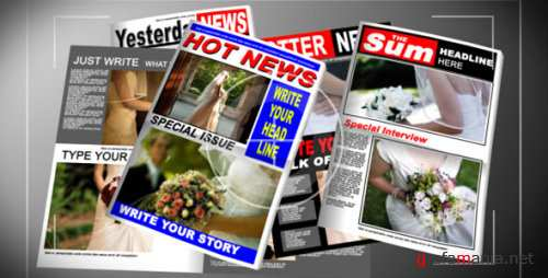 VideoHive Paparazzi Tabloid Newspaper 118929