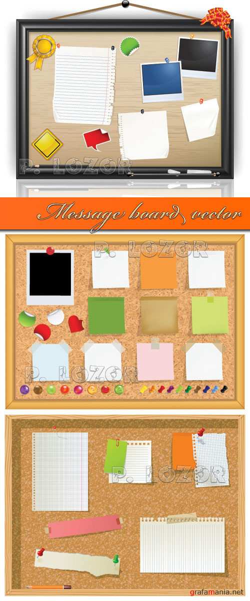 Message board vector