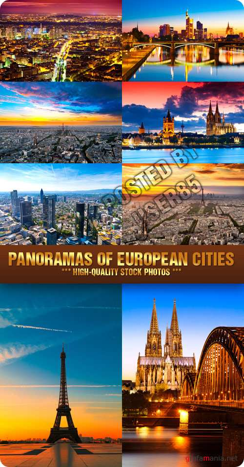 Stock Photo - Panoramas of European Cities