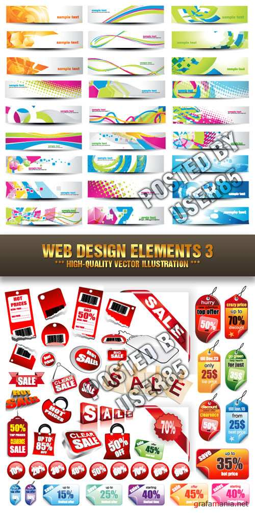 Stock Vector - Web Design Elements 3