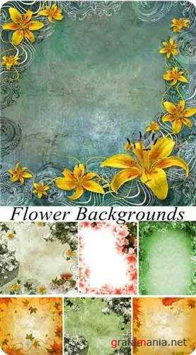 Antique floral backgrounds