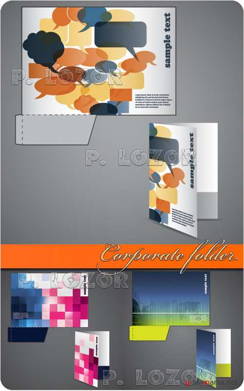 Corporate folder with die cut