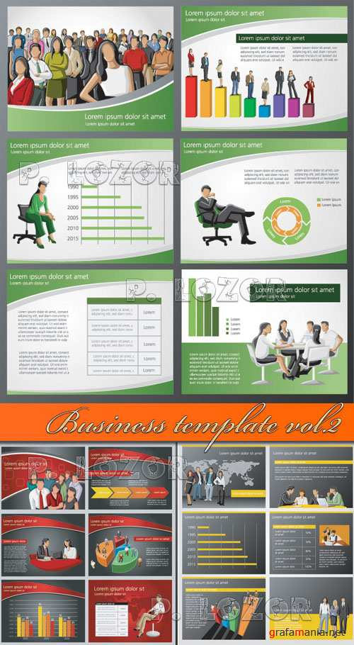 Business template vector vol.2