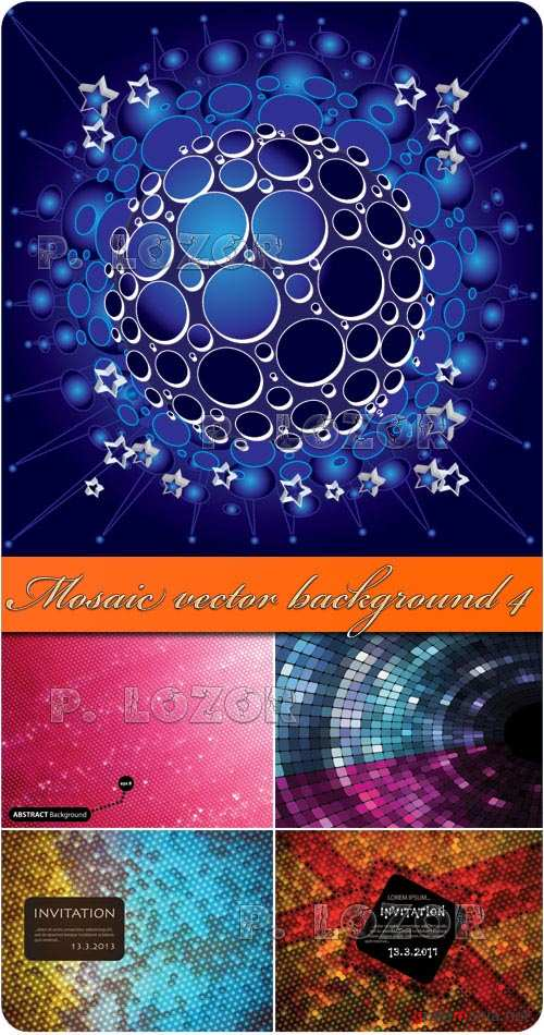 Mosaic vector background 4