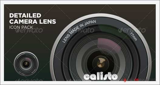 Detailed Camera Lens Icon Pack - GraphicRiver