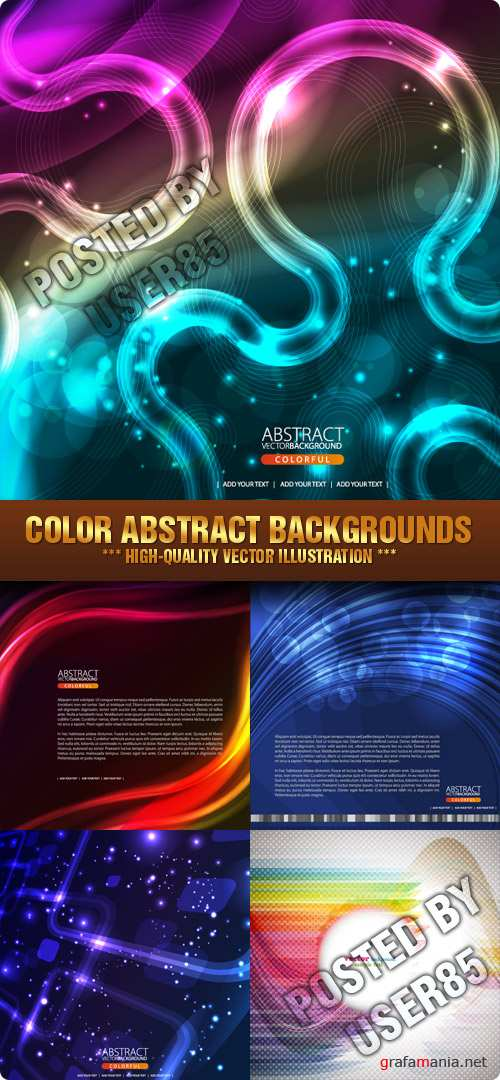 Stock Vector - Color Abstract Backgrounds