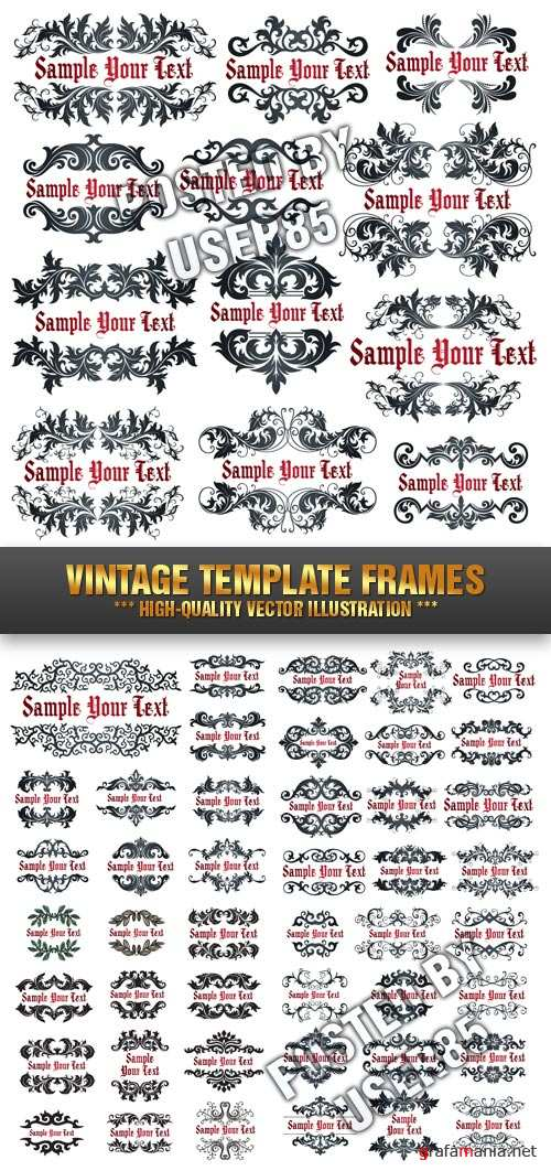 Stock Vector - Vintage Template Frames