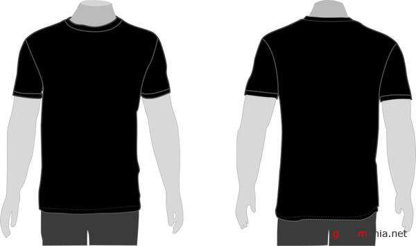 Templates de Camisa 44: Vector model t-shirt template