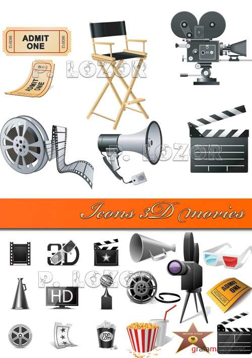 Icons 3D movies