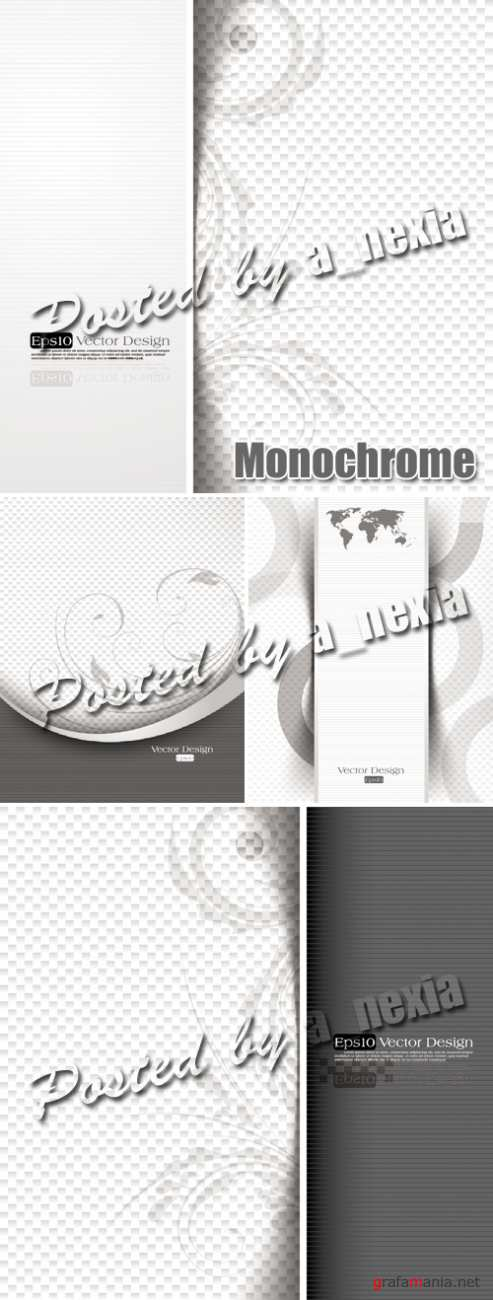 Simple Monochrome Backgrounds Vector