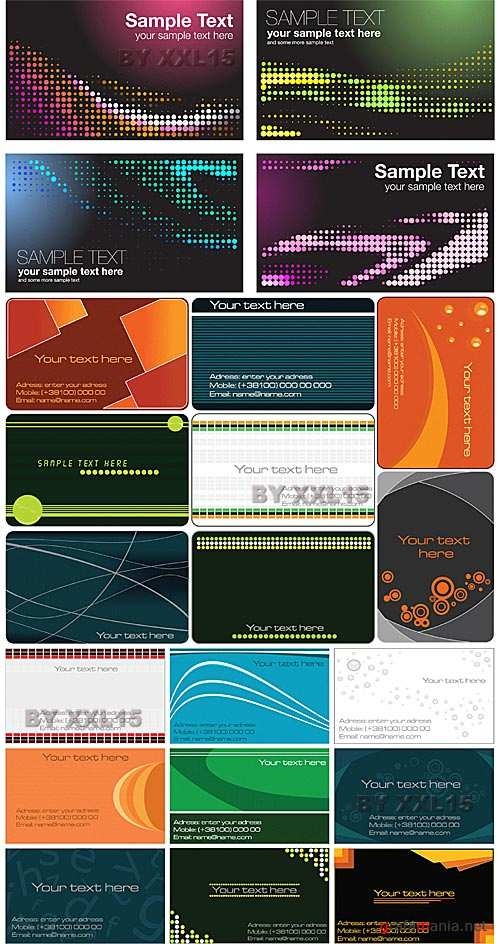 Business cards set 8