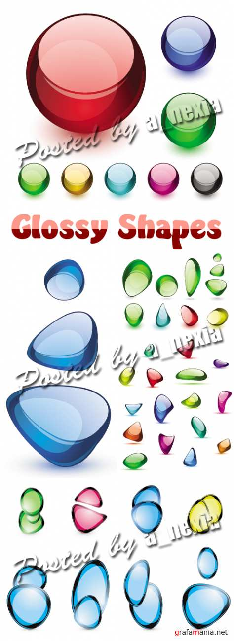 Color Glossy Shapes Vector