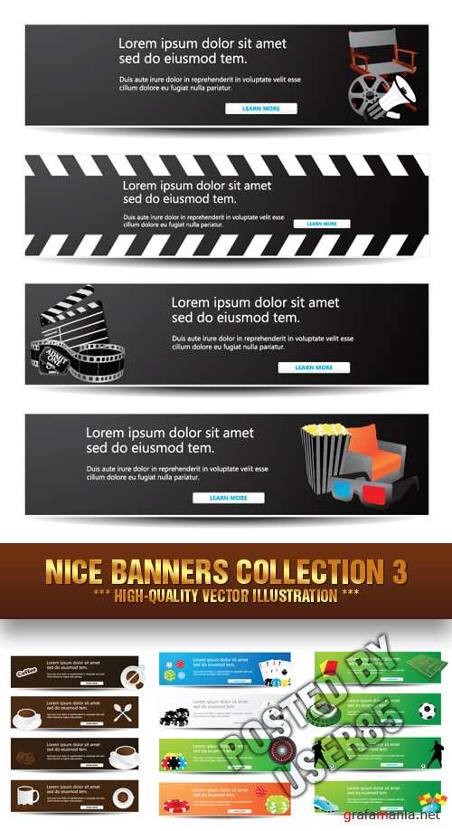 Stock Vector - Nice Banners Collection 3