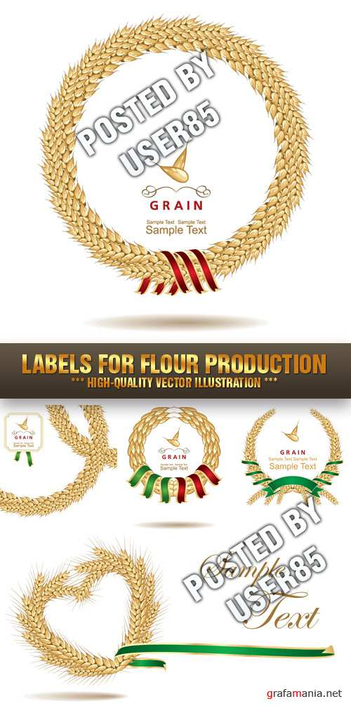 Stock Vector - Labels for Flour Production