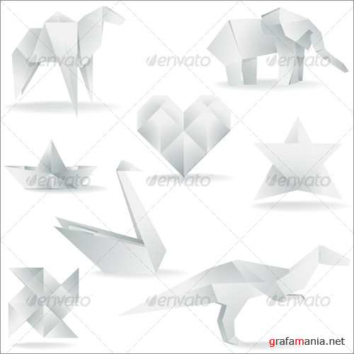 Various Origami Creations - GraphicRiver