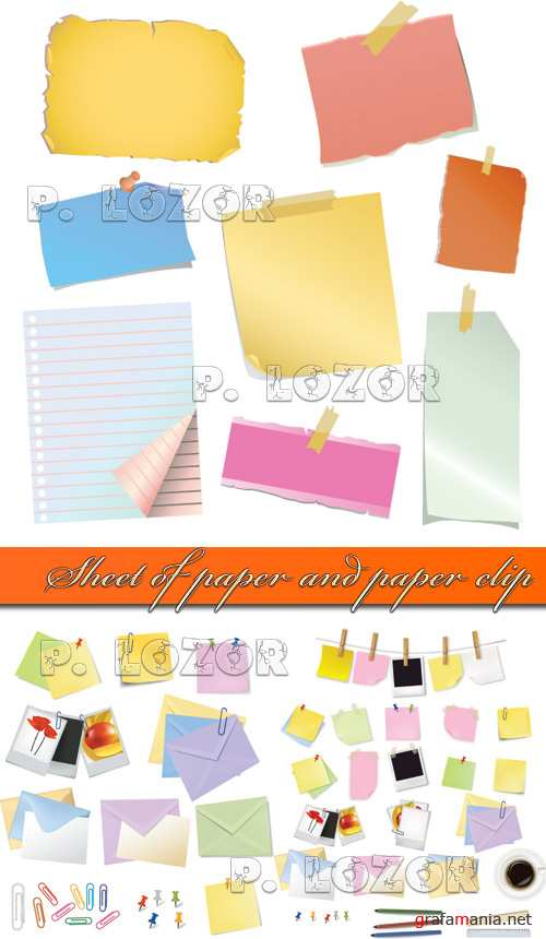 Sheet of paper and paper clip