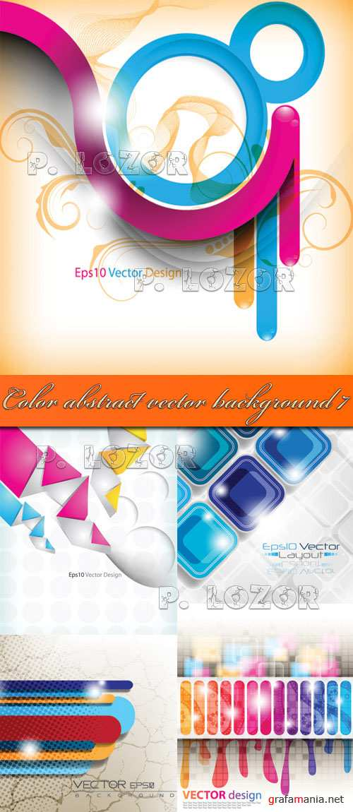 Color abstract vector background 7