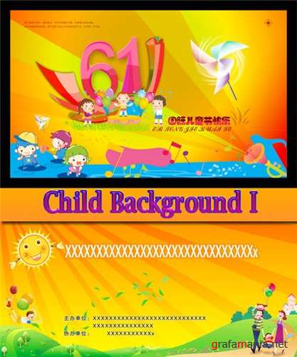 Children's background I - psd