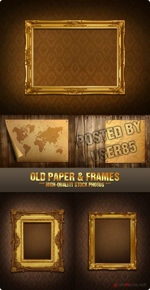 Stock Photo - Old Paper & Frames