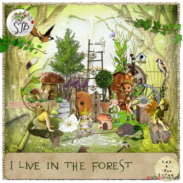 "Скрап набор ""I Live In The Forest"""