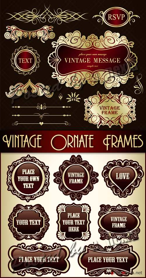 Vintage Ornate Frames Vector 2