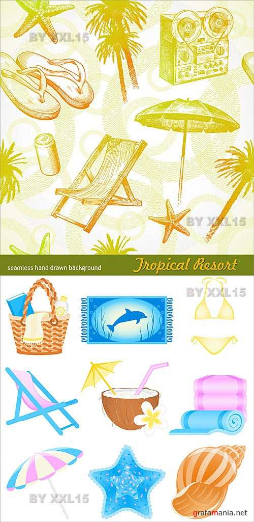 Tropical beach resort