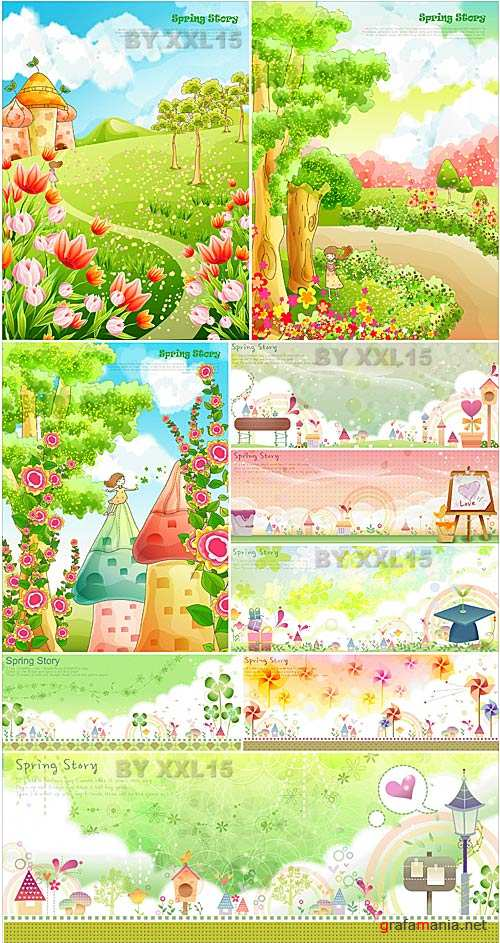 Cute spring backgrounds 2