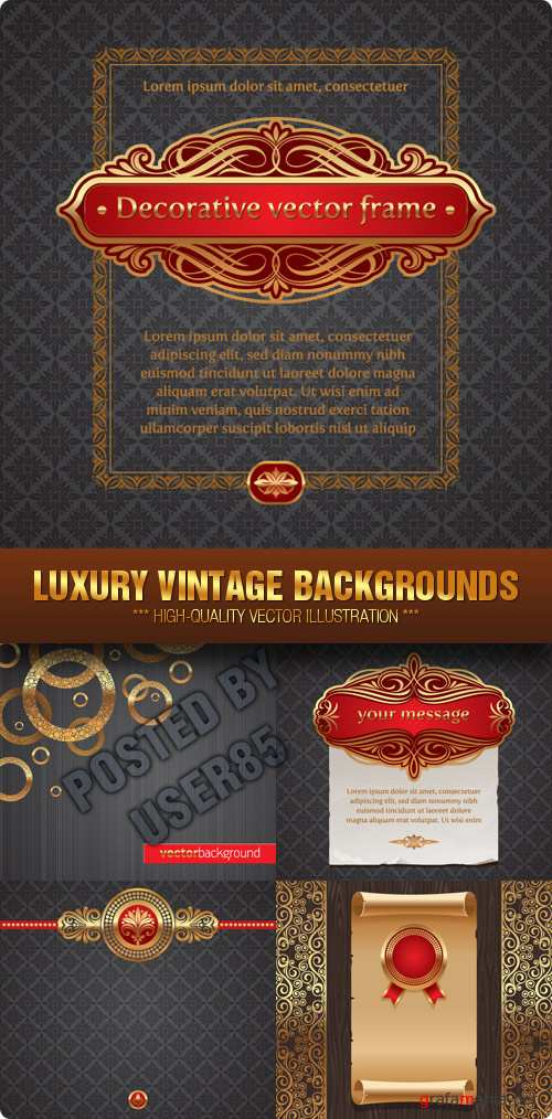 Stock Vector - Luxury Vintage Backgrounds