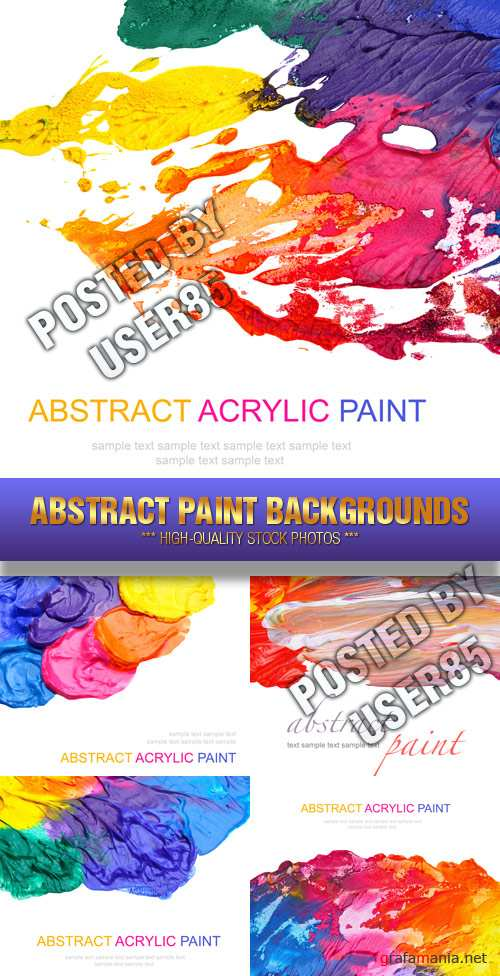 Stock Photo - Abstract Paint Backgrounds