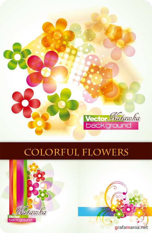 Colorful Flowers - Stock Vectors