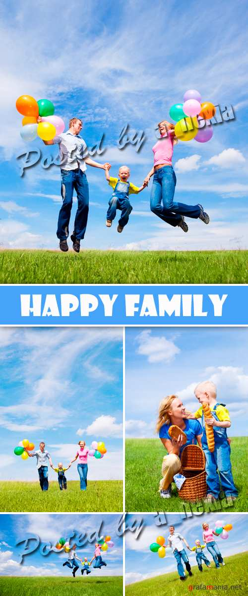 Stock Photo - Happy Family 2