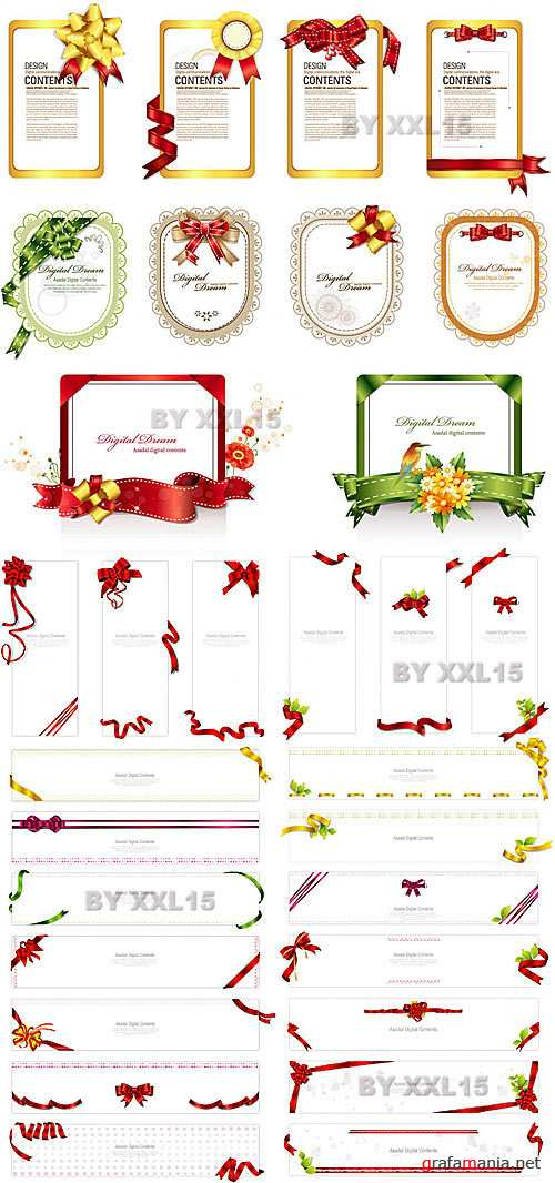 Design with ribbons 3