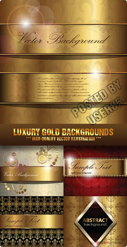 Stock Vector - Luxury Gold Backgrounds