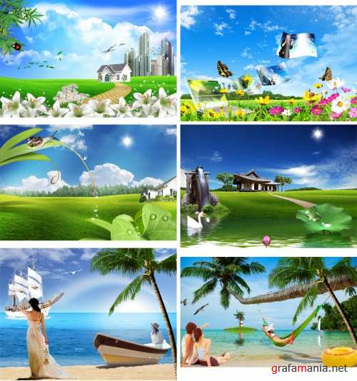 ��������� PSD - ������ �������  PSD Summer Landscapes